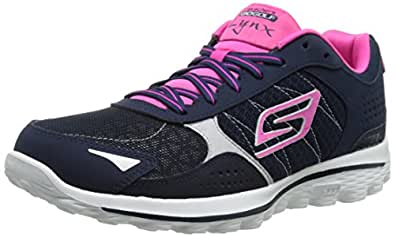 Skechers Performance Women's Go Golf 2 Lynx Golf Shoe, Navy/Hot Pink, 5 M US