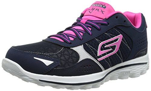 (Skechers Performance Women's Go Golf 2 Lynx Golf Shoe,Navy/Hot Pink,6 M US)