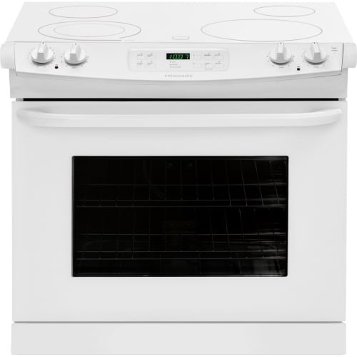 Frigidaire 30″ White Drop-In Smoothtop Cooktop Electric Range FFED3025PW