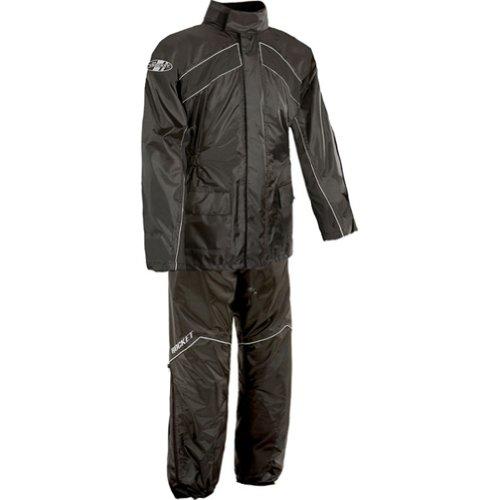 Joe Rocket Motorcycle RS-2 Rain Suit Mens Black Size XXXX-Large 9SIAH8T7MM6507