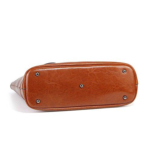 Marron Valin 8956 portés en portés main Sac Sac main à Sac cuir fashion épaule LF femme SS5ZxqwrAW