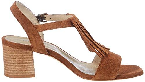 00246 Tobillo De Marc Mujer Para Sandalias braun Shoes Celine Correa Marrón Con BPFXBf