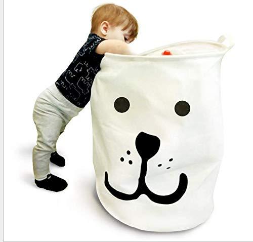 PUBAMALL Cesta de Almacenamiento o contenedor,Manijas portátiles y duraderas, Los cestos plegables plegables de la ropa son...