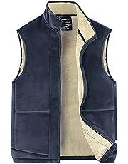 Panegy Heren verdikt fleece vest gevoerd wintervest warme mouwloze jas Essentials Outdoor Vest