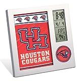 WinCraft NCAA University of Houston Desk Clock, Black