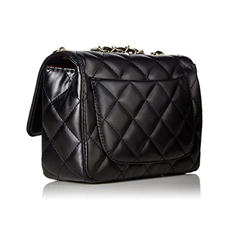 Small Women Classic Chain Shoulder Lady Cross by Gold Body S Mini 20 Quilted Bag 7cm Evening Handbag TOYU Clutch 15 Black Bag 8Pr8nq