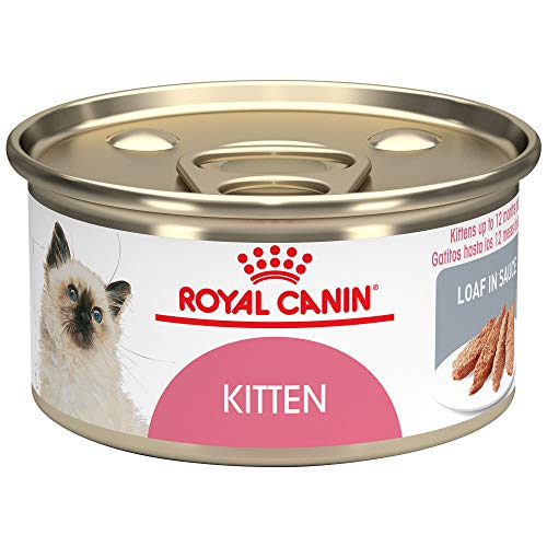 Sauce Cans 24/3 Oz - Royal Canin Feline Health Nutrition Kitten Loaf in Sauce Canned Cat Food, 3 Ounce Can (Pack of 24)