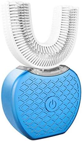 V-white 360 Intelligente Automatische Sonic Elektrische Zahnbürste U Typ USB Wiederaufladbare Oral Teeth Silikonbürstenkopf Zahnpasta (Farbe: Blau)