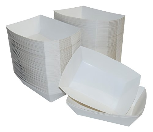 Tray Small Liner Serving (JA Kitchens White Paper Food Tray - 2.5 lb Capacity - 250 Count)