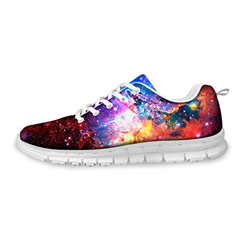 Galaxy Sneakers Lace Women's Print Fashion up 1 Shoes Weight Breathable U FOR amp; DESIGNS Men's Light Galaxy Running wqPHtxOH