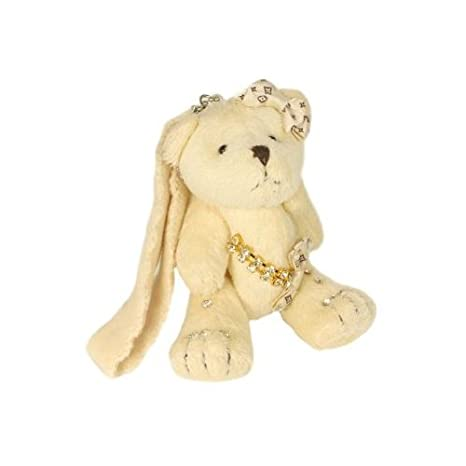 Amazon.com: Beige osito de peluche llavero: Office Products