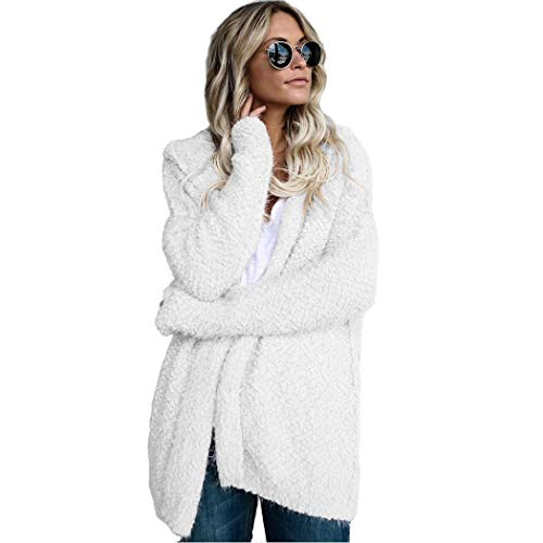 kigin Women Winter Casual Hooded Knitted Sweater Cardigan Coat Wool & Blends