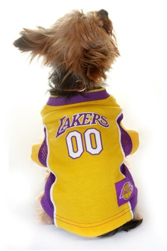 LOS ANGELES LAKERS Dog Jersey ★ ALL SIZES ★ Licensed NBA (Medium)