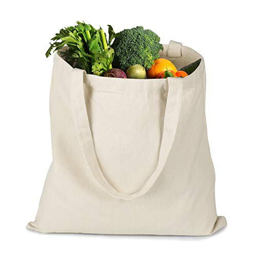 Reusable Shopping Bags Reinforced Grocery Tote Bags for Shopping and Everyday Use Heavy duty Tote shopping bag, Foldable Washable grocery tote bag, Craft canvas bag - Luggage Totes Canvas Bags