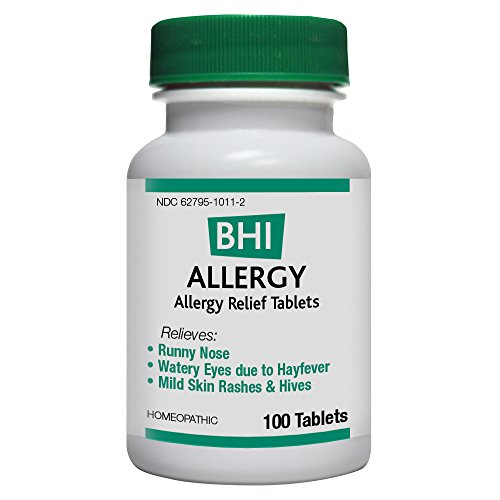 (BHI Allergy Relief Tablets - Soothes Minor Allergy Symptoms - Homeopathic Formula - 100)