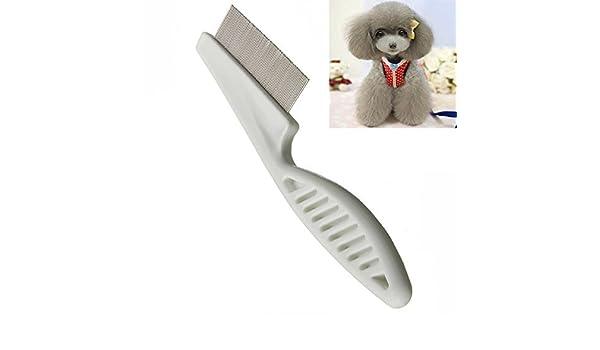 Paleo Perro peine cepillo de pelo de pulgas del pelo peine ...