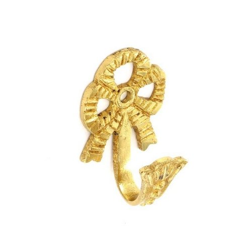 Securit Brass Bow Hooks (pair) – 65mm