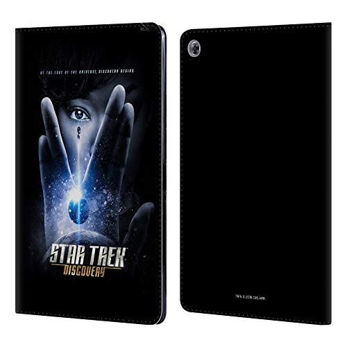 Official Star Trek Discovery Vulcan Salute Posters Leather Book Wallet Case Cover Compatible for Huawei MediaPad M5 Lite