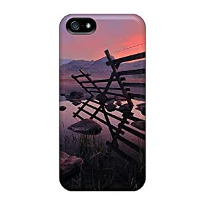 Hot Fence On Lake First Grade Tpu Phone Case For Iphone 5/5s Case Cover