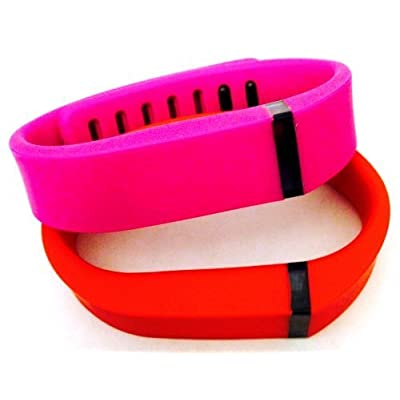 ! Small S 1pc Purple / Pink 1pc Red (Tangerine) Replacement Bands + 1pc Free Small Grey Band With Clasp for Fitbit FLEX Only /No tracker/ Wireless Activity Bracelet Sport Wristband Fit Bit Flex Bracelet Sport Arm Band Armband
