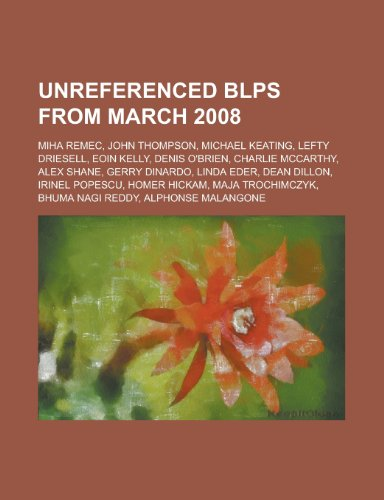 Unreferenced Blps from Tread 2008: Miha Remec, John Thompson, Michael Keating, Lefty Driesell, Eoin Kelly, Denis O'Brien, Charlie McCarthy