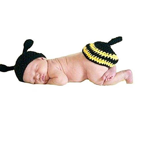 CX-Queen Photography Prop Baby Infant Yellow Flower Bee Crochet Knitted (Queen Bee Infant Costumes)