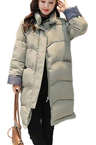 Forrado Piel Sintético Con Invierno Mujer Cremallera Cazadoras Otoño Parka Modernas Sólidos Larga Verde Huixin Manga Capucha Chaqueta Colores Outerwear Abrigos Elegante Cinturón 06BPqnxvw