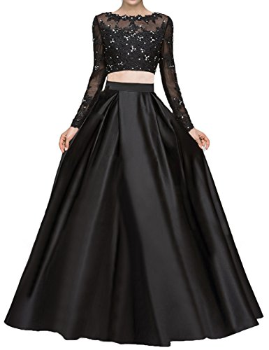 2 Piece Beaded Evening Gown - 2