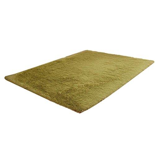 e Decor Fluffy Rugs Anti-Skid Shaggy Rug Dining Room Bedroom Carpet Floor Mat (Army Green) ()