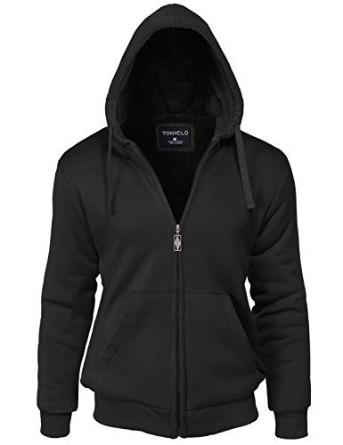 Kangaroo Pocket Warm Fur Inside Zipper Hoodie Jackets