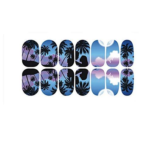 Generic 14pcs Luminous Glow Starry Sky Nail Art Stickers