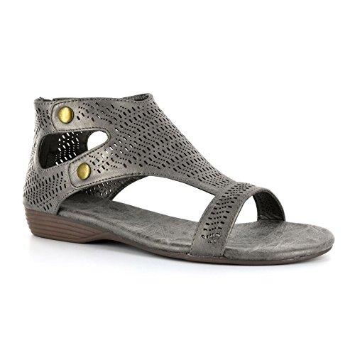Corkys Footwear Mujeres Ladies Black Sandalias Perforadas Peltre
