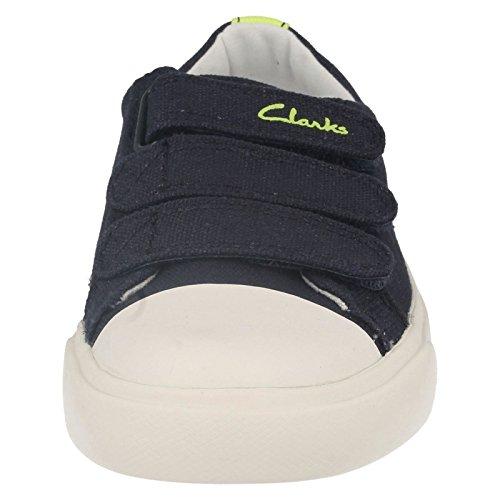 Clarks Club Halcy Jnr, Sandalias de Talón Abierto para Niños Navy