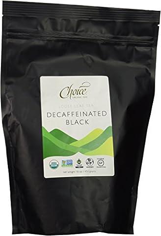 Choice ORGANIC TEAS Loose Leaf Tea, Decaffeinated Black, 1 Pound
