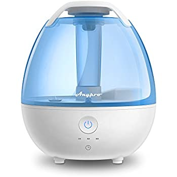 Ultrasonic Cool Mist Humidifier Anypro Mist Humidifiers For Bedroom Ultra Quiet