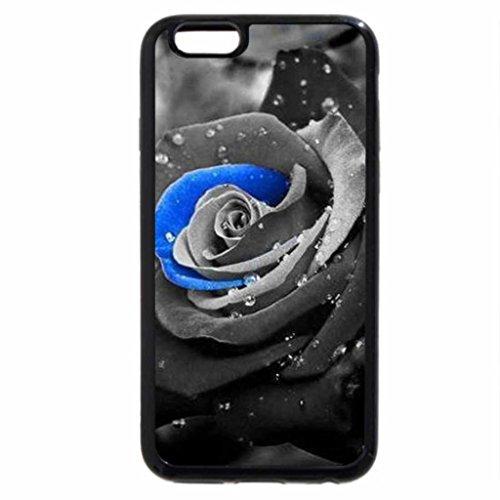 iPhone 6S Case, iPhone 6 Case (Black & White) - Black magic rose