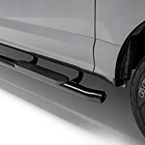 MaxMate Premium Custom Fit 2019 Chevrolet//GMC Silverado//Sierra 1500 Double Cab 4 Oval Straight Black Side Step Running Boards Nerf Bars 2pc with Mounting Bracket Kit