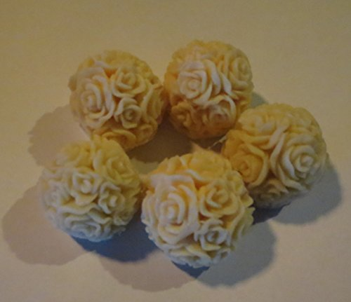 Flower Soap Favors - JOANNDLES Flower Balls Soap Set 5 Per Package (yellow)
