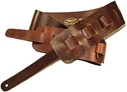 Guitar Strap Full Grain Buffalo Leather Tan