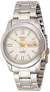Seiko Men's '5' Automatic Stainless Steel Sport Watch, Color:Silver-Toned (Model: SNKK07