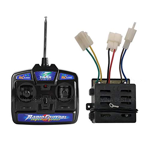 RC King 27Mhz Universal Remote Control and 12V Receiver Kit Transmitter Motherboard Control Box Accessories for Kids Electric Cars Children Electric Ride On Car Replacement Parts