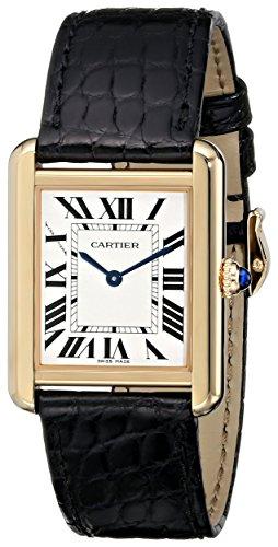 (Cartier Women's W5200004 Tank Solo 18kt Yellow Gold Case Watch)