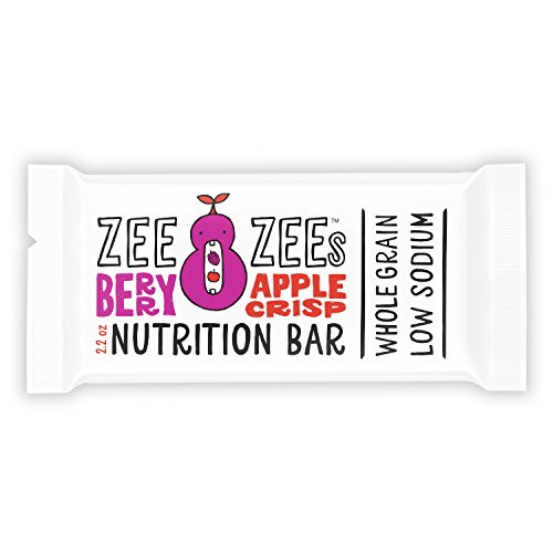 (Zee Zees Berry Apple Crisp Soft Baked Bars, Nut-Free, Whole Grain, Naturally Flavored and Colored,2.2 oz Bars, 24 pack)
