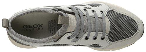 Geox U Snapish B, Zapatillas para Hombre ROCK/WHITE