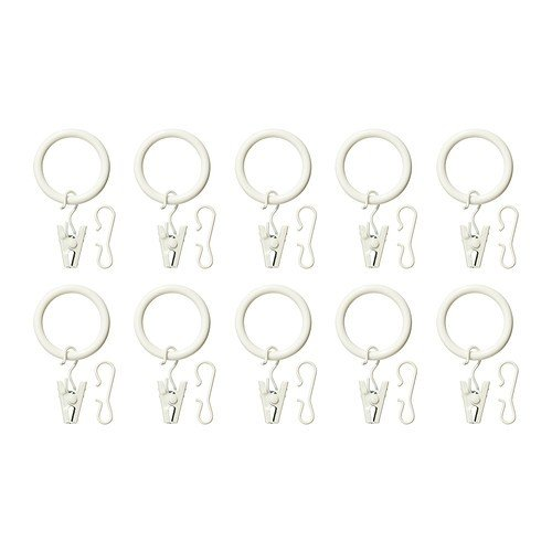 Anelli Per Tende Ikea.Ikea Syrlig Curtain Ring With Clip And Hook Silver Colour 25