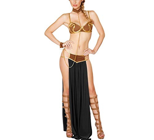 Women's Halloween Cosplay Princess Fashion Luxury Sexy Slave Uniforms Costume Lingerie Pieces Sets (Tagsize2XL=USsizeXL, -