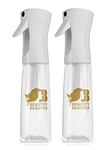 Beautify Beauties Flairosol Empty Clear Spray Bottle, 10 Ounce - 2 Pack ... (Output Containers)