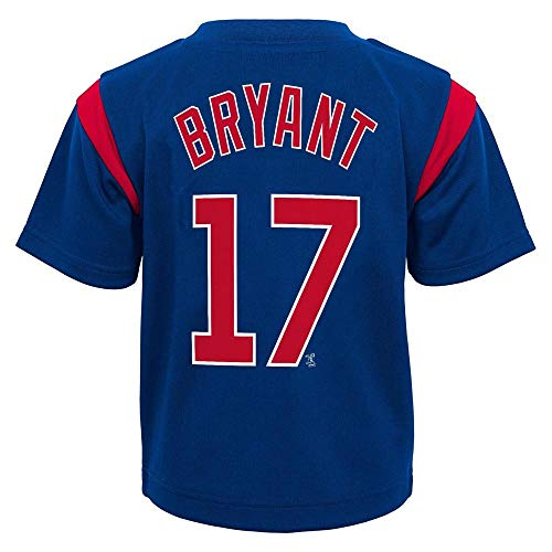 Outerstuff MLB Toddler 2T-4T Team Player Name and Number Jersey T-Shirt (3T, Kris Bryant Chicago Cubs) ()