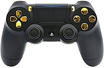 Black/Gold Custom PS4 PRO Rapid Fire Custom Modded Controller 40 Mods for  All Major Shooter Games, Auto Aim, Quick Scope Sniper Breath & More