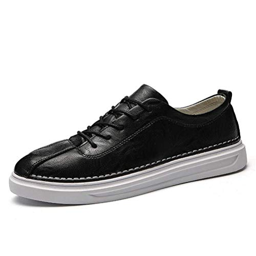 FS65a966zxc Fashion Men Lace-Up Breathable Casual Sneakers Slip Men Casual Shoes,Black,8